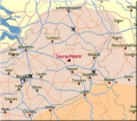 Sauna Limburg Koersel Beringen Limburg Belgie landkaart