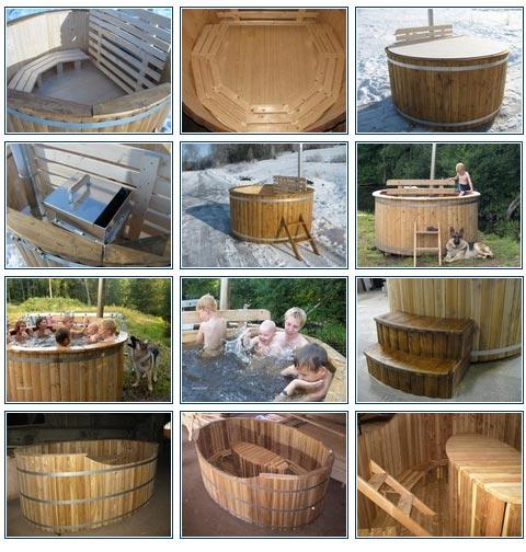 Saune Da Esterno A Forma Di Vasca Con Acqua Riscaldata Con