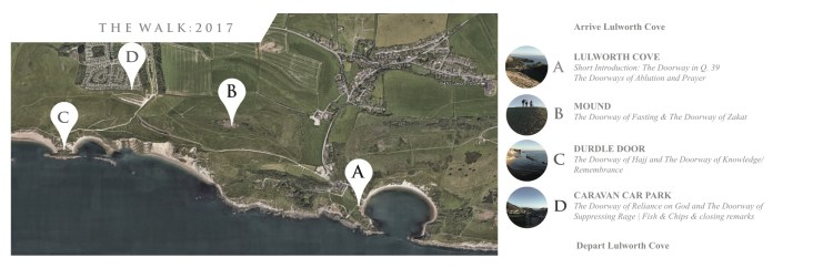 Lulworth Cove Walk Route