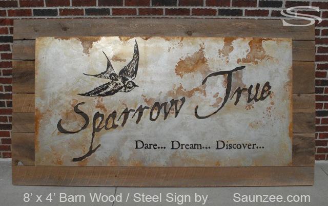 Saunzee Signs Barn Wood Signs