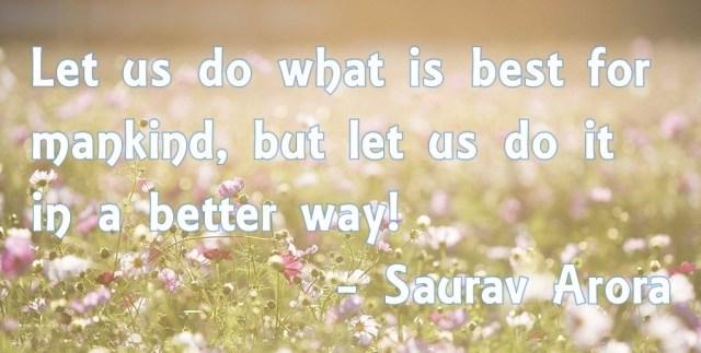 Saurav Arora quote