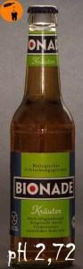 Bionade Kräuter pH 2,72
