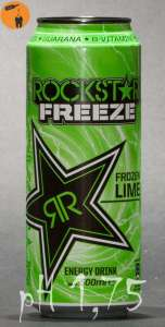 Rockstar Frozen Lime ist mit pH 1,75 richitg sauer