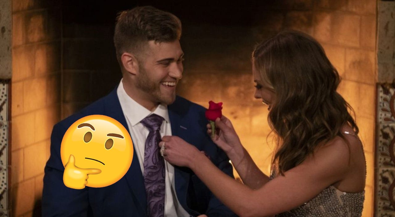 Hannah brown gives Luke P. rose | Sausage roll