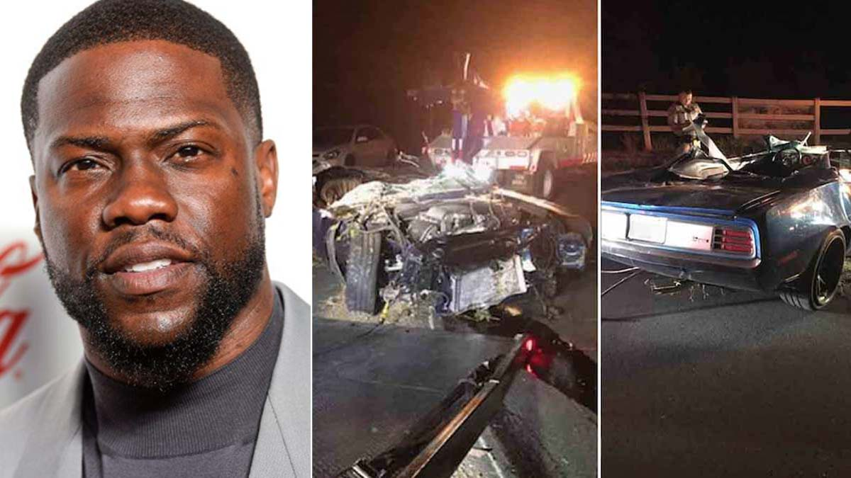 Kevin Hart car crash leaves actor with severe back injury