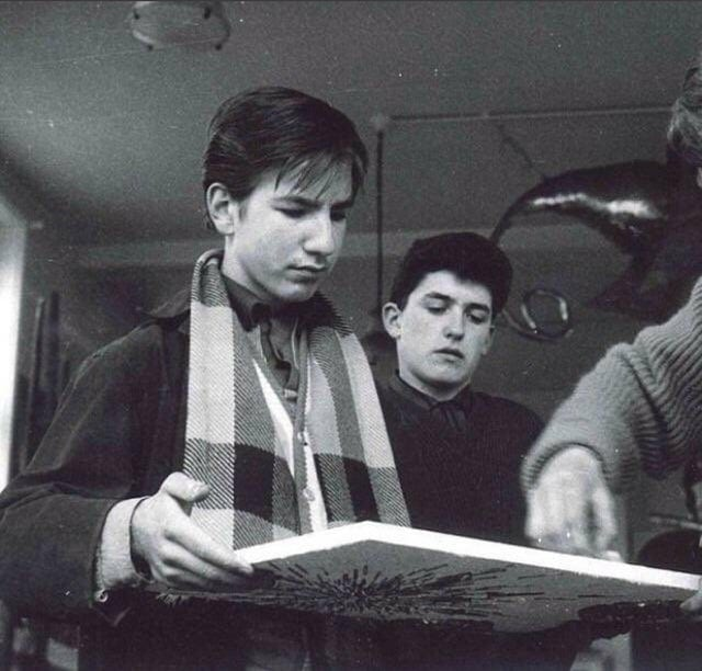Alan Rickman as a high school student in the 60s'