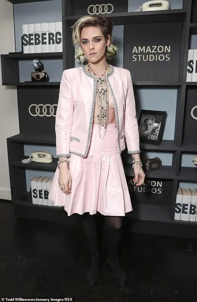 Kristen Stewart braless at premiere in LA