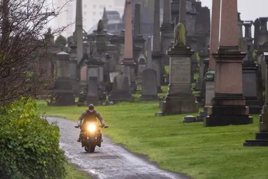 Robert Pattinson's stunt double Necropolis cemetery