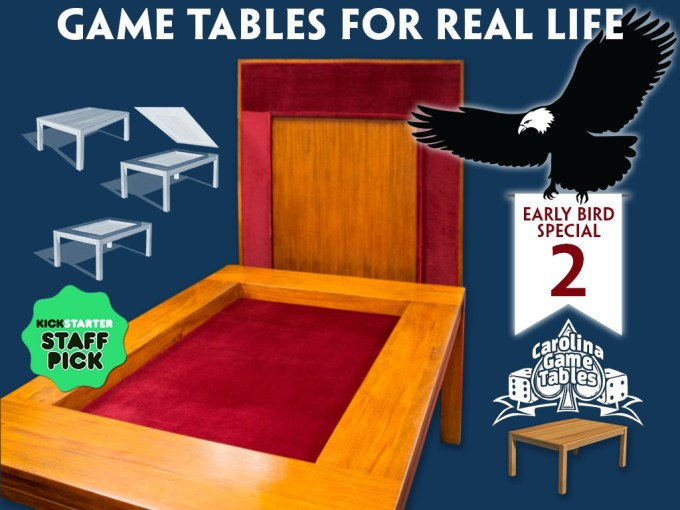 Kickstarter promo image for Carolina Game Tables