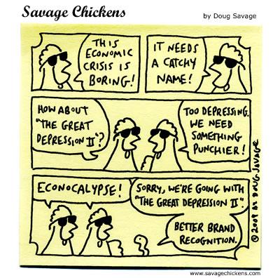 Economic crisis, cartoon