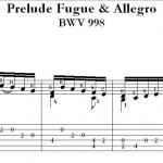 Bach Classical Guitar Transcription by Richard F. Sayage