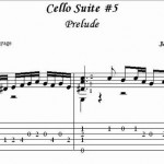 Bach Cello Suite Preludes for Classical Guitar