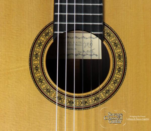 Michael Batell Classical Guitar #45 - 2015 Spruce Double Top with Macassar Ebony