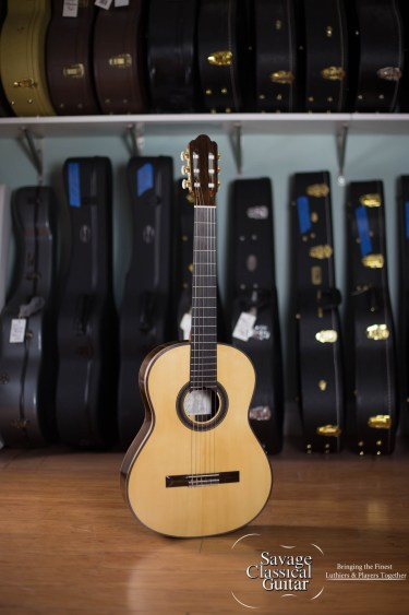2014 Randy Angella Classical Guitar #211 Spruce CSA Rosewood