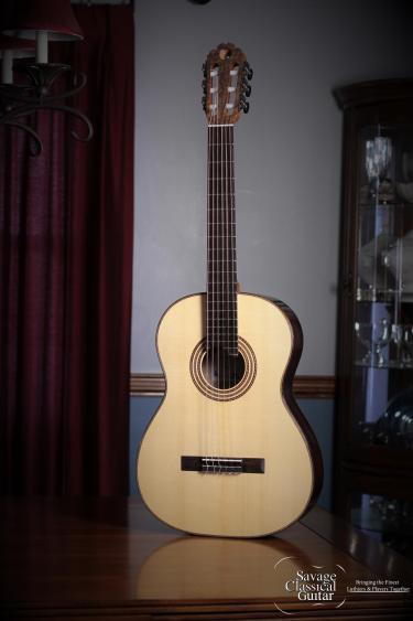 Matt Rubendall Classical Guitar 2015 Concert Spruce EIRW