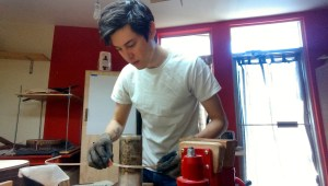 Michael Cadiz in his workshop