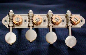 Alessi Mandolin Tuning Machines – Oval Ebony F-Style
