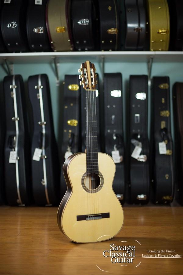 "Kevin Aram 2017 Classical Guitar ""Gail"" Spruce Ebony"