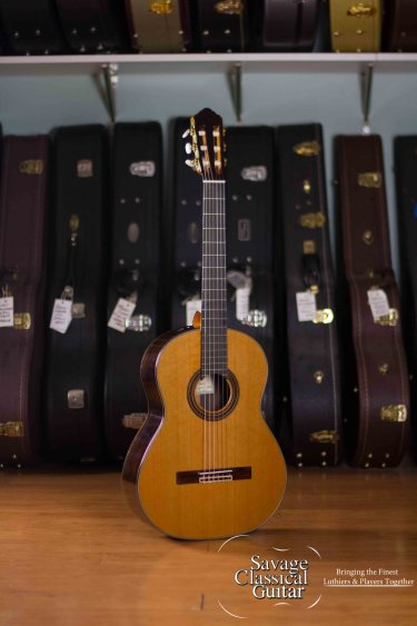 Kenny Hill Player Classical Guitar – 650mm Cedar Elevated FB PORTS
