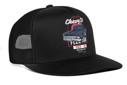 Chevy C10 Trucker Cap Black