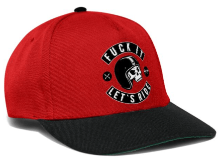 Let's Ride Snapback Red
