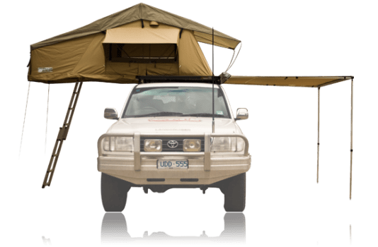 Savannah Campers 2 person roof top tent and side awning