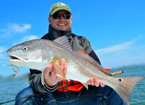 Eric Summa with one of many nice reds taken on spin tackle