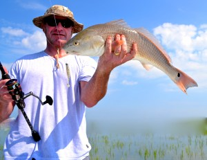 Grip n grin 1  Greg McGuinn getting it done in the shallows with light tackle