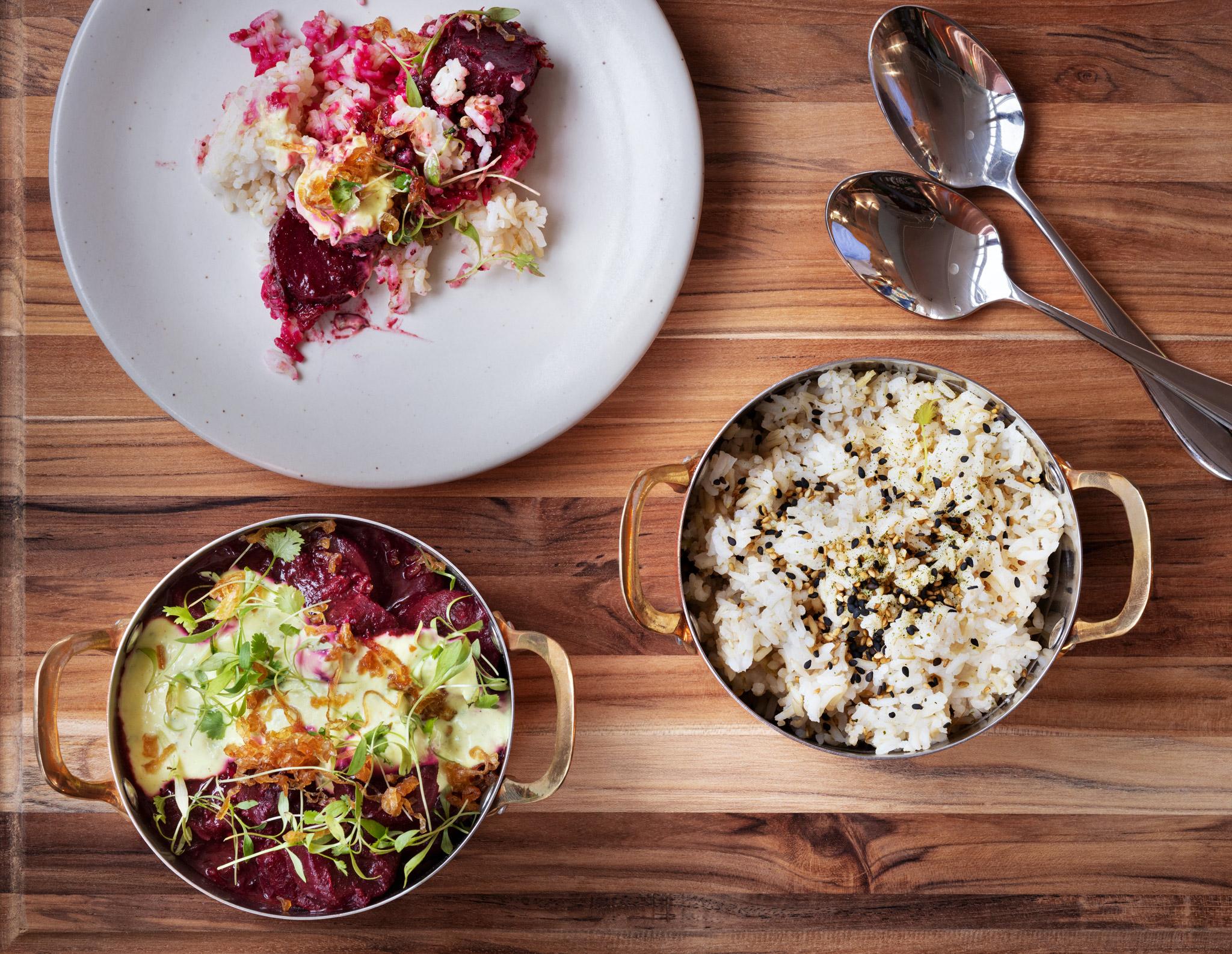 the fat radish savannah menu item beet curry