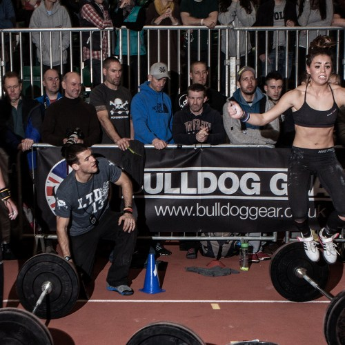 Battle of London • Women Barbell Burpees