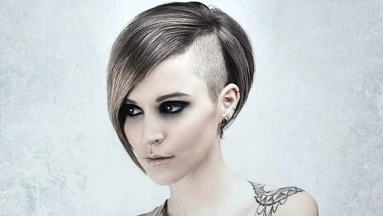 Ideen Damen Frisuren Undercut Inspirationen Bob mit Undercut