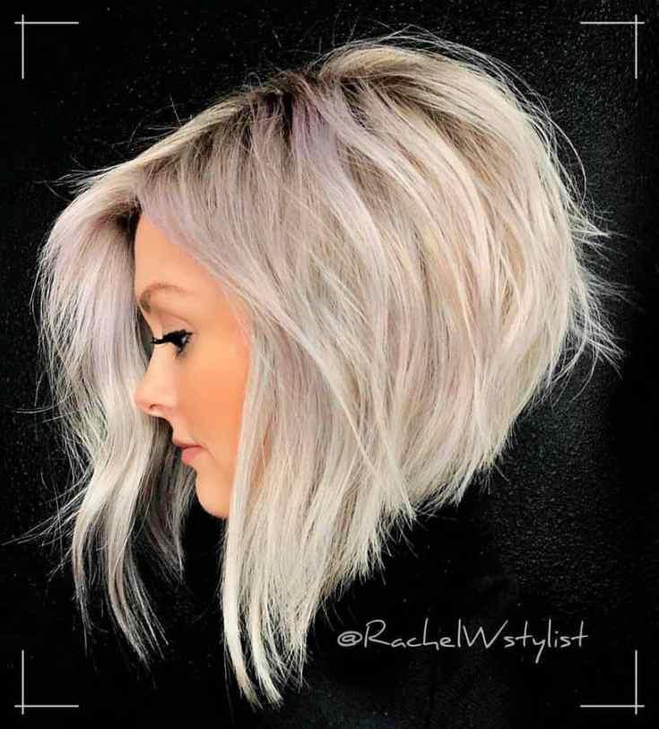 20 Frisuren Kinnlang Dimensionales Platin-Haar