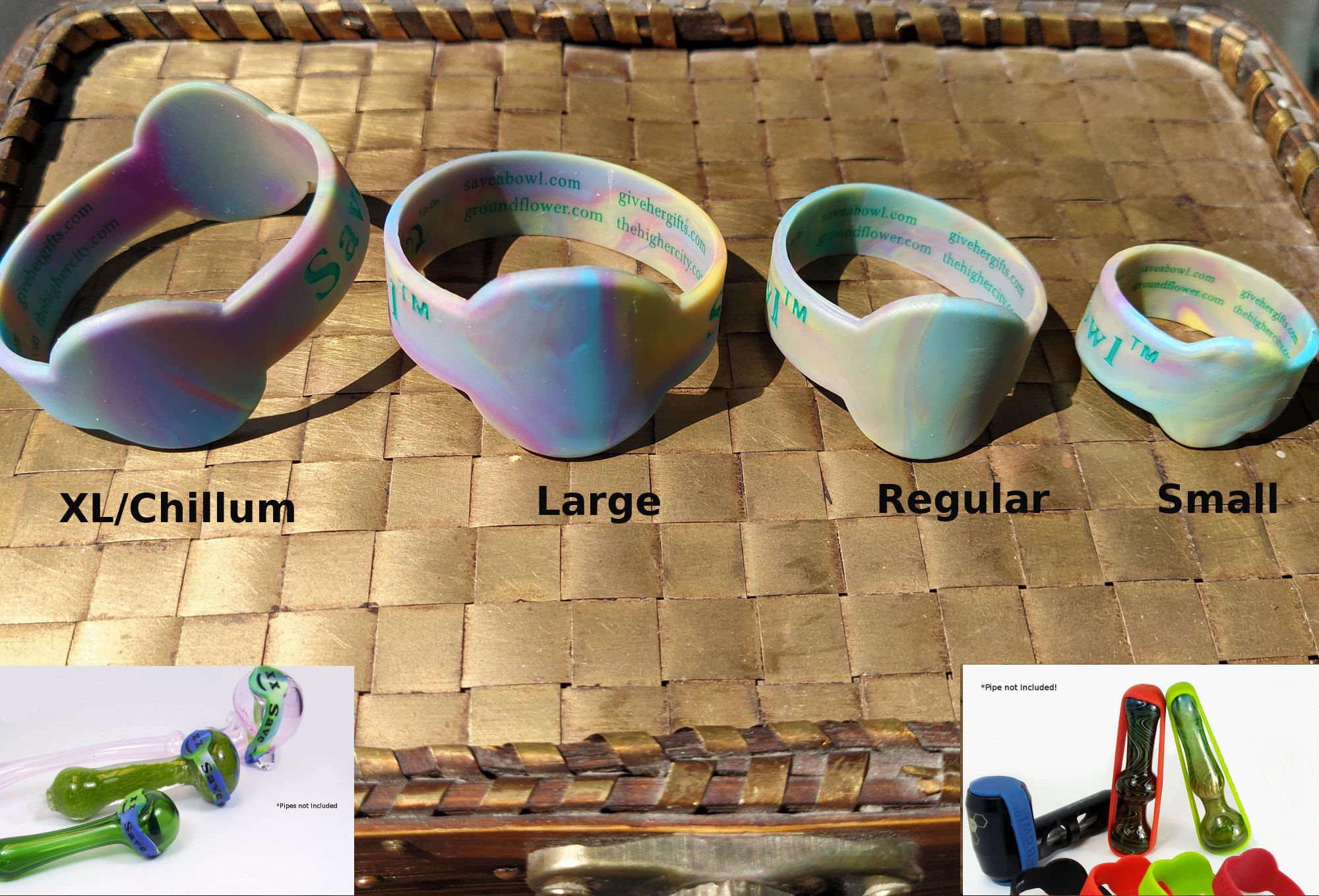 different size silicone bowl wraps