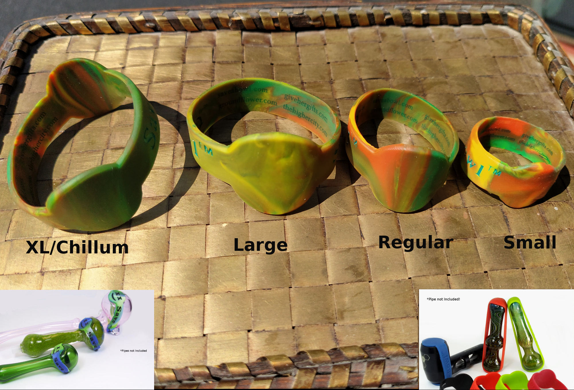 4 sizes of rasta save-a-bowls