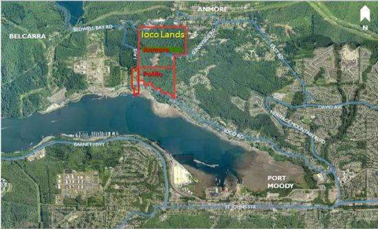 The Ioco Lands purchase covers 232 acres, 150 acres in Anmore and 82 in Port Moody.