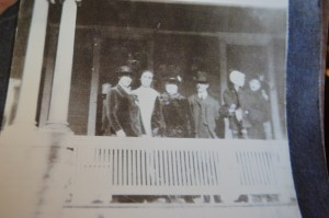 Pauline Miller of Cedar Rapids provided Mark Cardis with a copy of a photo showing her grandparents and other relatives at the home during its glory days.