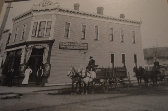 An early photo shows the Peter Hach Saloon & Bottling House shortly after it was built in 1901. (photo courtesy, Robert Hach Jr.)