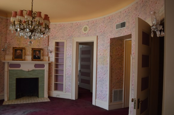 A circular room on the second floor of the mansion was used as a sitting room. (photo/Cindy Hadish)