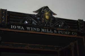 A sign reflects the original purpose of the Mott Building, which withstood the 2008 flood along the Cedar River in Cedar Rapids. (photo/Cindy Hadish)