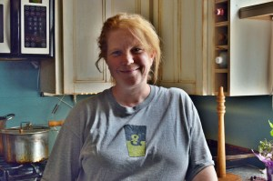 Tamara Dallege is shown last week in the kitchen of her home. (photo/Cindy Hadish)