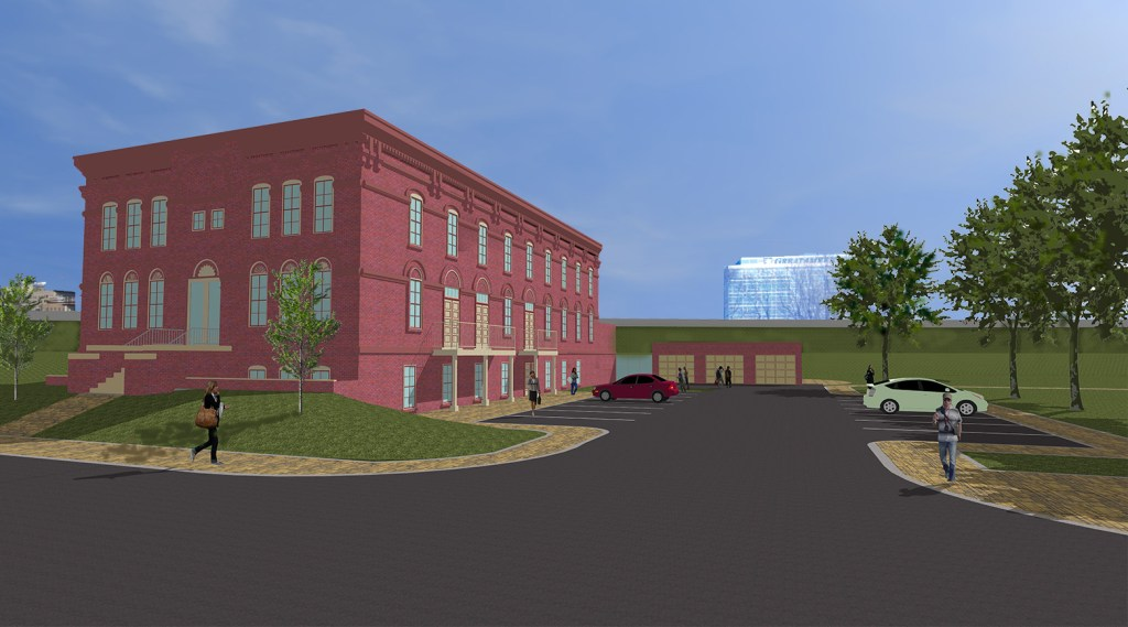 This image shows the plans proposed by KHB for the Knutson Building in Cedar Rapids, Iowa.