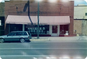 Stalker Electric, shown around 1985, was among the businesses located in the building at 616 Second Ave. SE. (photo/The History Center)