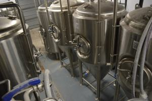 Quarter Barrel's The seven-barrel brewing system has a capacity of nearly 1,000 barrels annually. (photo/Cindy Hadish)