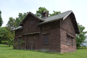 The Oak Hill Cemetery's barn is also in danger of being demolished. (photo/Cindy Hadish)