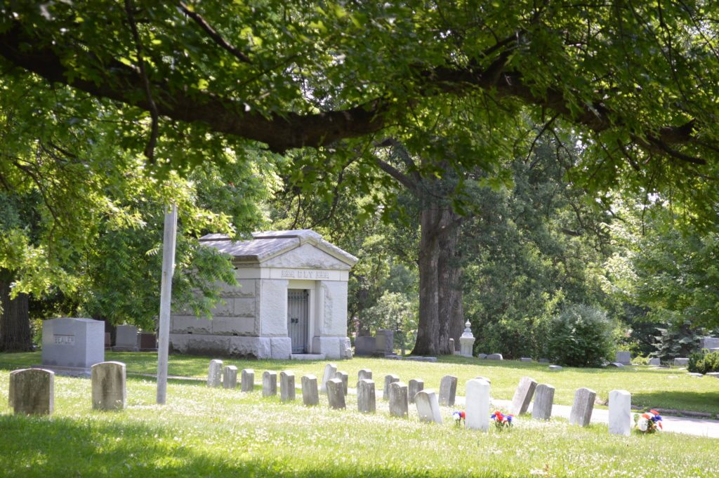 Oak Hill Cemetery is the final resting place for many Cedar Rapids pioneers. (photo/Cindy Hadish)