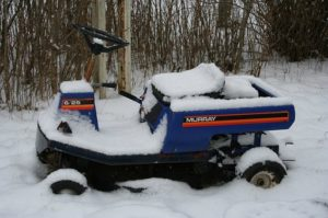 snow lawn mower