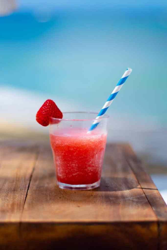 cocktail margarita fraises congelees