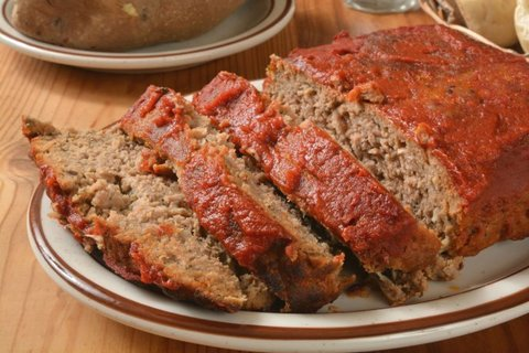 restes de barbecue pain de viande