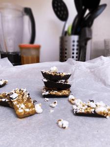 chocolat aux restes de popcorn