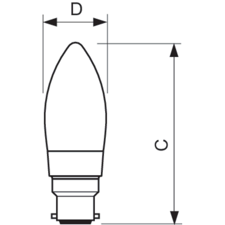 Philips Led Filament Candle Bulb Clear B35 B22 4 5w K